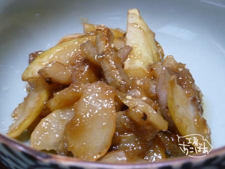 アケビの味噌炒め